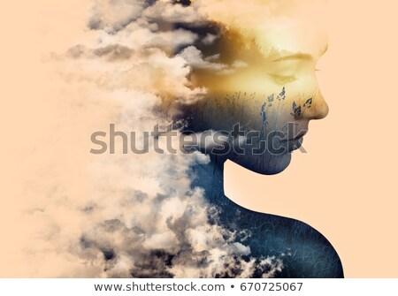 woman face in grass Stock photo © smithore