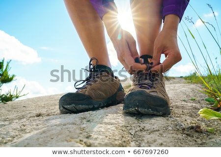 Yürüyüş ayakkabı uzun yürüyüşe çıkan kimse açık havada yürüyüş Stok fotoğraf © papa1266