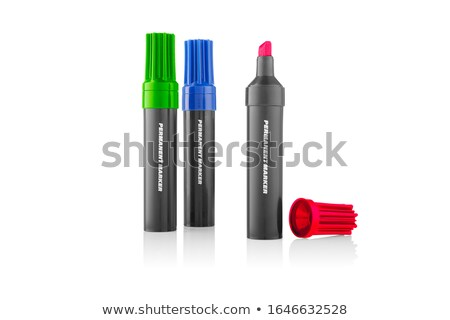 Three highlighter marker pens, isolated on white Stock photo © shutswis