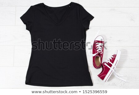 female and blank white and black shirts stock photo © sumners