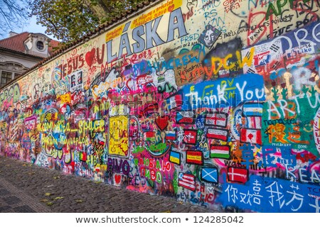 Lennon wall in Prague Stock photo © stevanovicigor