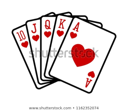 pôquer · jogos · de · azar · real · cartões · lazer · jogo - foto stock © vankad