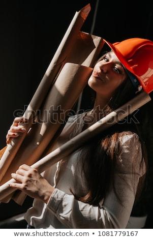 Sexy femenino trabajador de la construcción mujer construcción industria Foto stock © photography33
