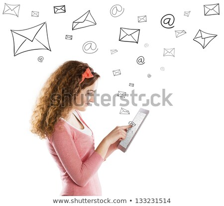 Teen with email symbol Stock photo © photography33