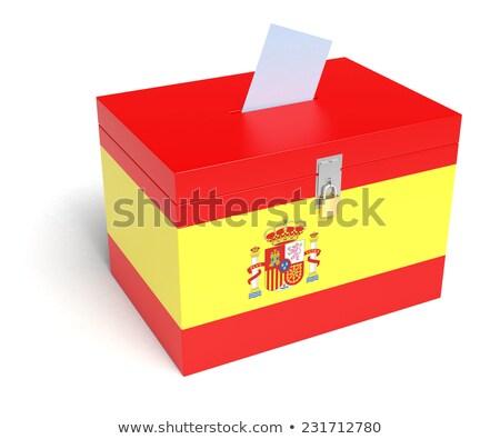 szavazócédula · doboz · Spanyolország · részletes · illusztráció · 3D - stock fotó © experimental