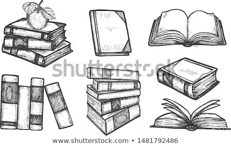книгах · три · квартал · изолированный - Сток-фото © toaster
