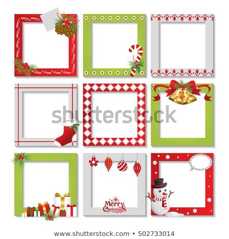 Christmas invitation photo frame scrapbooking  Stock photo © carodi