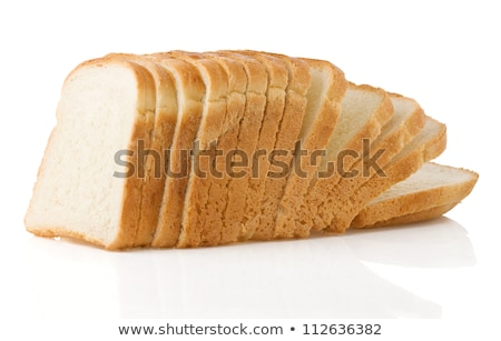 stack of white bread isolated on white stock photo © shutswis
