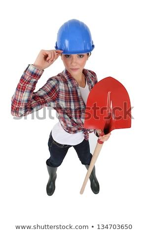 Tolakodó tart ásó fa építkezés háttér Stock fotó © photography33