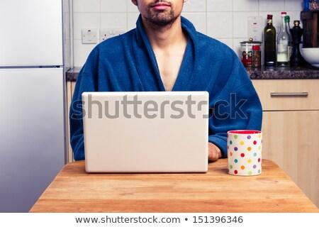 Hombre de trabajo aderezo vestido ordenador pelo Foto stock © photography33