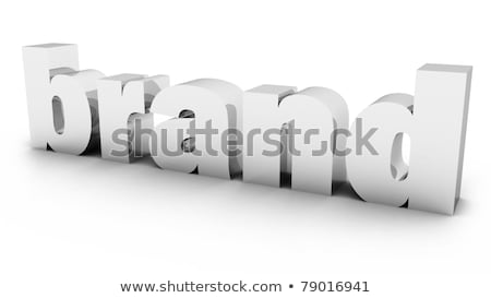 3D · woord · merk · witte · kleur · marketing - stockfoto © Mariusz_Prusaczyk