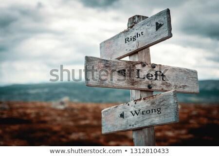 Escolher errado maneira direito um estrada Foto stock © ivelin