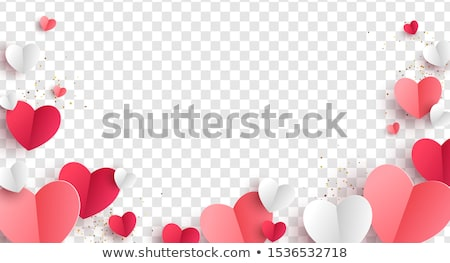 love greeting banner with golden hearts vector illustration stock photo © carodi