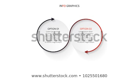 Abstract black business symbol with 2 elements stock photo © MONARX3D