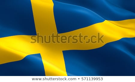 Fabric texture of the flag of Sweden Stock photo © maxmitzu