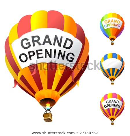 grand opening with a hot air balloon stock photo © lightsource