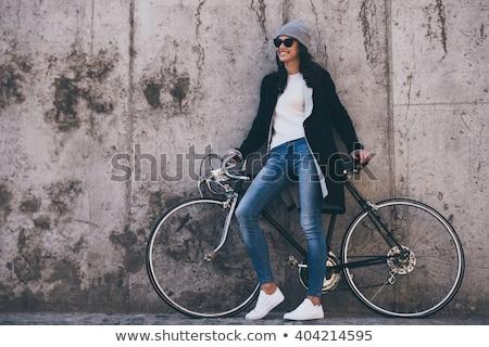moderno · botas · beautiful · girl · branco · boutique - foto stock © acidgrey
