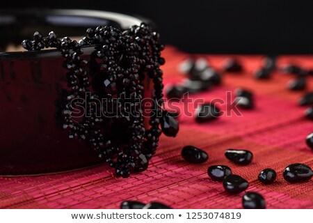 Black beads with a pendant Stock photo © acidgrey