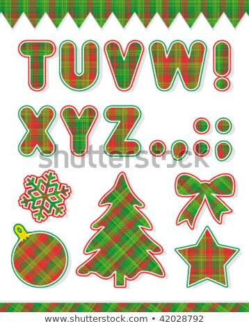 Christmas ABC set, part 2, letters T - Z and design elements Stock photo © ratselmeister