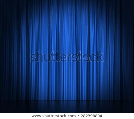 Spotlights on blue velvet cinema curtains Stock photo © Lightsource