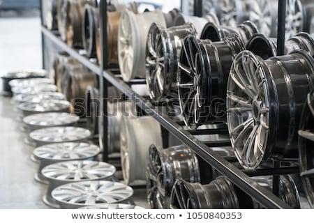plata · aluminio · rueda · aislado - foto stock © tashatuvango