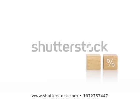 Pourcentage dollar cubes signe rouge financière Photo stock © 4designersart