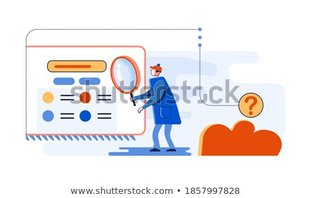 Find Answers - Web Screen and Magnifying Glass stock photo © iqoncept
