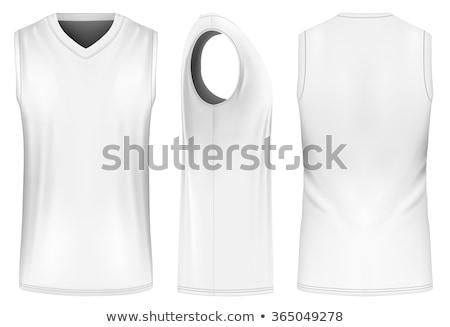 Póló ujjatlan ruházat vonal művészet feketefehér Stock fotó © cteconsulting