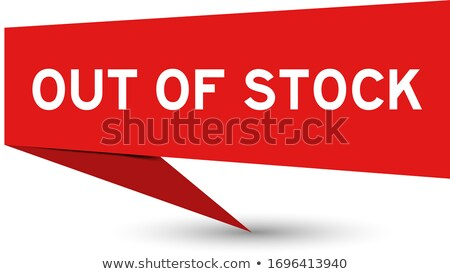 Sold Word Price Tag Unavailable Out of Stock Product Stock photo © iqoncept