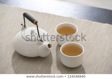 asian · tè · pot · confortevole · lounge · legno - foto d'archivio © HASLOO