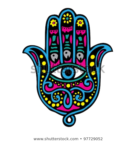 Fatima's Hand- Khamsa religious symbol Stock photo © shawlinmohd