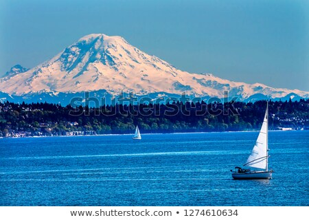 Mount Rainier Puget Sound North Seattle Snow Mountain Washington Stock photo © billperry