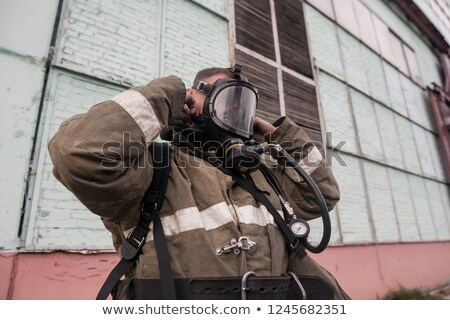 Heroes in gas mask Stock photo © stokkete