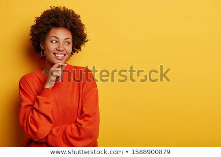 curly girl in the happy moment Stock photo © balasoiu