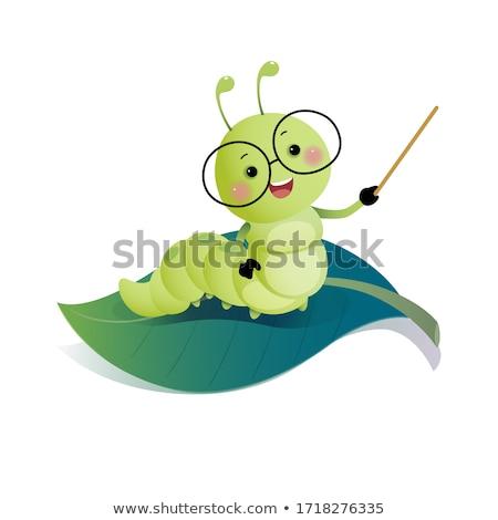 clever happy green bug stock photo © derocz