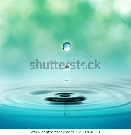 Blue Raindrop Ripples Stock photo © ArenaCreative