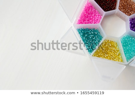 corner of colorful beads stock photo © discovod