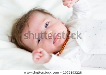 琥珀 ネックレス 孤立した 白 美 オレンジ ストックフォト © gavran333