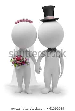 Foto d'archivio: 3d Small People - Wedding