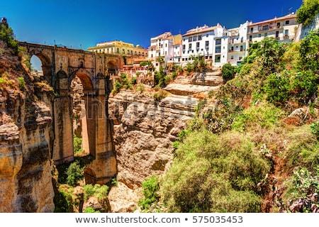 Scénique pont Espagne paysage vieux romaine Photo stock © tboyajiev