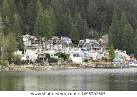 Mély öböl tükröződések kikötő Vancouver Kanada Stock fotó © billperry