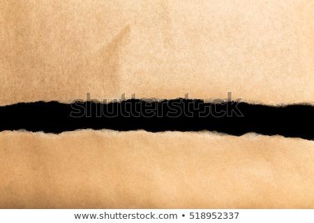 Prawda rozdarty papieru słowo za rozdarty brązowy papier Zdjęcia stock © ivelin