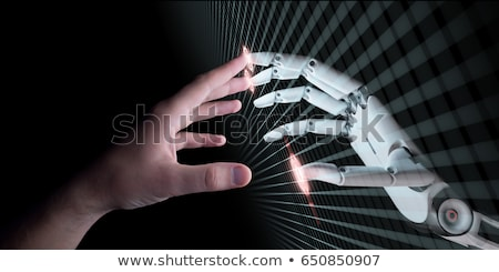 Robot with computer monitor. Technology concept Stock photo © Kirill_M