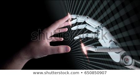robot · simge · 3d · render · çapraz · gelecek · yaşam · tarzı - stok fotoğraf © kirill_m