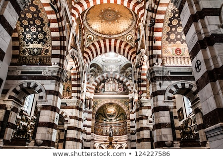 Foto stock: Interior · la · catedral · Marselha · dourado
