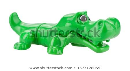 крокодила игрушку изолированный белый весело смешные Сток-фото © Grafistart