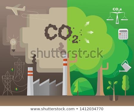 Co2 Power Concept Stock photo © burakowski