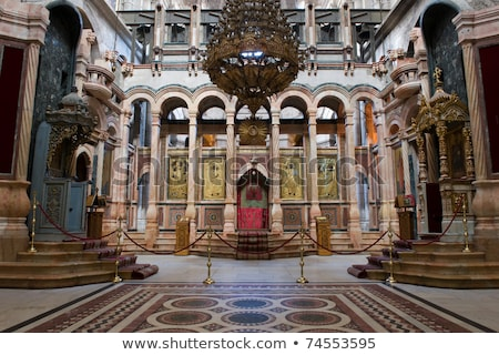Interior of the Church of the Holy Sepulcher Stock photo © AndreyKr