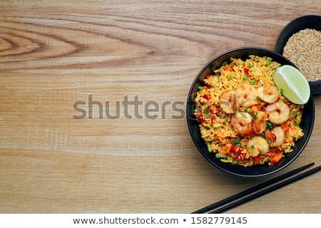 cocido · camarón · cuchara · alimentos · peces - foto stock © m-studio