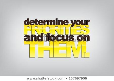 Focus achtergrond kunst restaurant reclame tekening Stockfoto © maxmitzu